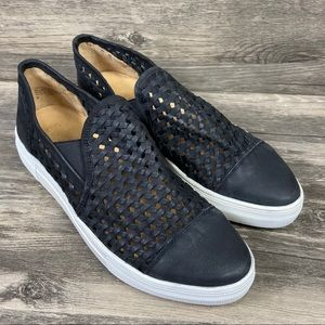 Seychelles leather woven slip-on sneakers